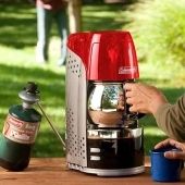 Coleman 10-Cup Portable Propane Coffeemaker with Stainless Steel Carafe